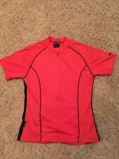 Nike Dri Fit Youth Cycling Red/black Jersey Size Large 3/4 Zipper RCP