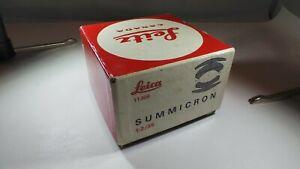BOX ONLY LEICA / LEITZ 11309 BOX M LEICA 35MM F2 SUMMICRON BOX NO SERIAL NUMBER