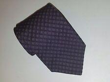 "Hickey Freeman Collection Purple/Silver Geometric Check Woven 4"" Wide Silk Tie"