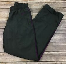 Nike Womens Athletic Windbreaker Track Pants 399831 XS Gray Purple Lined EUC 267