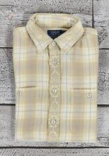 Donna Polo Ralph Lauren Vestibilità Comoda Plaid Western Flanella Camicia S NEW