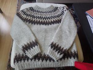 Vintage Men's Hilda Ltd 100% Wool Sweater Made in Iceland Large L