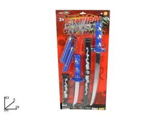 Armi Samurai Set Spada Katana Ninja Gioco Giocattolo Bambini dfh