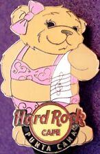 Hard Rock Cafe PUNTA CANA 2008 Swimsuit Girl TEDDY BEAR PIN HTB City HRC #43969