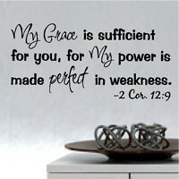 My Grace is Sufficient Bible Verse Wall Words Quotes Removable Decals Lettering