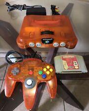 New listing Nintendo 64 Orange Fire N64 Orange Fire Funtastic Console Works Perfect