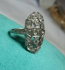 .75CT Diamond Wedding Engagement Ring Platinum Edwardian Old Mine Cut Diamonds