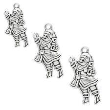 5 x Tibetano Argento Babbo Natale Babbo Natale Ciondolo Charms NATALE 29 mm