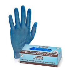More details for ~~ blue powder free vinyl gloves vdgpfb  ~~ pack of 100  ~~ uk stock ~~
