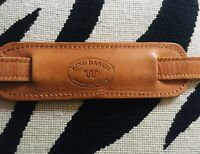 TEXAS KING RANCH Natural Leather Shoulder Strap W/ Brass Clip Hardware