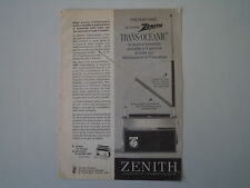 advertising Pubblicità 1964 RADIO ZENITH TRANS-OCEANIC