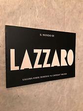 GALLERIA D'ARTE IL CASTELLO CATALOGO OPERE WALTER LAZZARO SERIGRAFIE 1988