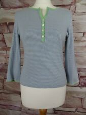 BODEN blue striped cotton  t-shirt top size 14