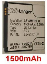 Batterie 1500mAh type EB425161LA EB425161LU Pour Samsung GT-I8160 Galaxy Ace 2