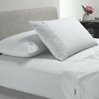 Bianca Heston 300TC 100% Cotton Percale Sheet Set White