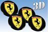 Wheel stickers Ferrari (53mm.) Centre Cap Logo Badge Wheel Trims 3d decals