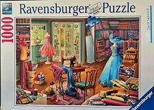 "Ravensburger Jigsaw Puzzle - 1000 Pieces ""Seamstress Shop"" Excellent Condition!"