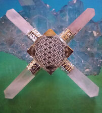 STUNNING SOLID ROSE QUARTZ CRYSTAL PYRAMID ENERGY GENERATOR WITH 4 POINTS, REIKI