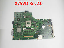 For ASUS X75VC X75VD X75VB Laptop Motherboard Mainboard System Board  REV 2.0