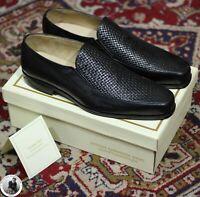 Véritable mocassin en cuir noir pour hommes fait à la main robe / chaussures