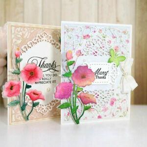 Remembrance Flower Metal Cutting Dies Stencil DIY Scrapbooking Card Paper Good P