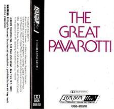 "LUCIANO PAVAROTTI ""THE GREAT PAVAROTTI"" CASSETTE 1977 london"