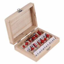 """1/4"""" Shank Woodworking Tungsten Carbide Tipped Router Bit Set- Tool Kit"""