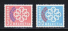 Switzerland 1959 MNH Mi 681-682 Sc 376-377 European Conference,Overprinted**RARE