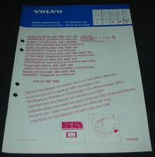Einbauanleitung Volvo 760 Mobiltelefon NMT 450 / 900 ab Baujahr 1988!