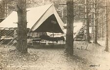 Campers' Tents At Tall Pine Camp, Bennington New Hampshire Nh Rppc