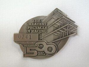 2012 Indianapolis 500 Silver Pit Badge #0741 Dario Franchitti Ganassi Racing