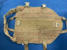 New listing Tactical Dog Harness Vest. Large. Fde Tan. Molle Straps.