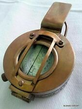 Prismatic Calibrated Brass 3-Inch Antique Engineering Miner Surveyor Compass
