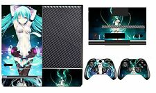Miku 232 Vinyl Cover Skin Sticker for Xbox One & Kinect & 2 controller skins