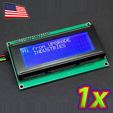 White on Blue 2004 20x4 LCD Module Display with Serial I2C Module for Arduino