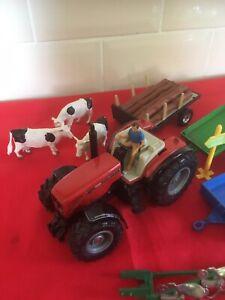Britains & Siku Farm Vehicles & Cows.