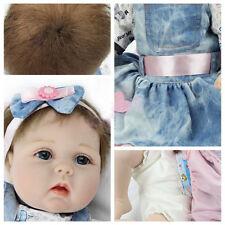 "22"" Realistic Reborn Baby Doll Girl Real Lifelike Silicone Vinyl Newborn Babies"