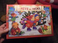 5 Puzzles LA FETE DE NOEL Ours Ourson Peluche Rennes du Père Noel et la Crèches