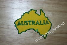 Yellow Green Australia Map Embroidered Iron on Patch **