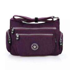 Neu Damen Nylon-Gewebe Multi-Taschen Umhängetasche Schulter Damen Handtasche
