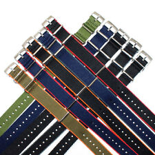 Seat Belt Nylon NATO Strap : Choice of 14 Colours : Steel Buckle : 20mm or 22mm