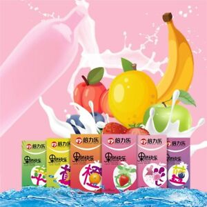 10Pcs Natural Latex Fruit Smooth Lubricated Condom Ultra Thin Condoms Sex