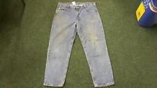 """Carhartt Relaxed Fit Waist 42"""" Leg 32"""" Men's Medium Blue Jeans"""