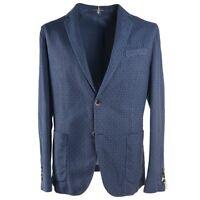 NWT $950 RODA Slim-Fit Slate Blue Printed Cotton Sport Coat 38 (Eu 48)