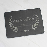 Personalised Couples Slate Plaque Sign Cheese Board Anniversary Wedding Gift