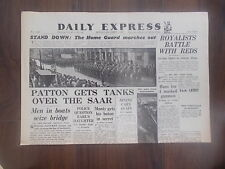 DAILY EXPRESS WWII NEWSPAPER DECEMBER 4th 1944 BRITAIN'S HOME GUARD STAND DOWN