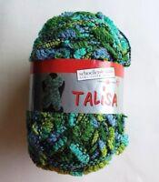 Schoeller-Stahl Talisa Yarn Skein Green/Blue Gr8 for Ruffle Scarf Ribbon