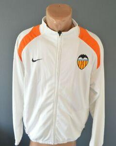 Valencia Football Soccer Jacket Full Zip Top Training Retro Sweatshirt Size M