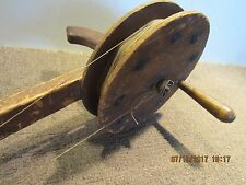 ANTIQUE, HAND MADE, KNUCKLE BUSTER ROD & REEL