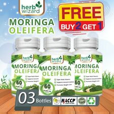 3 x 60  Moringa Oleifera Organic Leaf Extract 10,000mg Serving 100% Pure Tablets